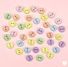 Dress it Up 7mm Tiny Round Pastel Buttons 1348 - Doll House Dolls Small