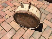 """Original Antique Wagon Canteen Revolutionary War 1700s early 1800s 12.5 """" Diam."""