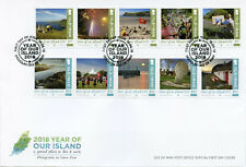 Isle of Man IOM 2018 FDC Year of Our Island 10v Cover Tourism Landscapes Stamps