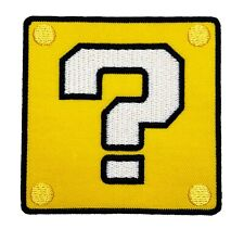 Coin Block ? Patch Iron on Badge Costume Super Mario World All Stars Patches NEW