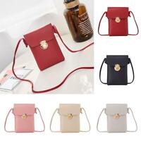 Portable Women Wallet Purse Leather Coin Cell Phone Mini Cross-body Shoulder Bag