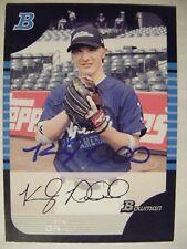 KYLE DRABEK signed BLUE JAYS 2005 Bowman AFLAC baseball card AUTO WOODLANDS TX