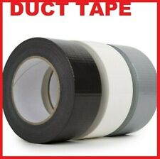 More details for  white silver black red 48mm x 50m duck duct gaffa gaffer waterproof cloth tape
