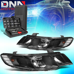 FOR 2010-2013 FORTE KOUP BLACK HOUSING CLEAR SIGNAL HEADLIGHT HEAD LAMPS+TOOLS