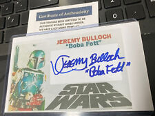Jeremy Bulloch Signed 3x5  index card Star Wars  - COA From DJL