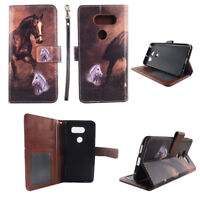 For LG V30, LG V30+, LG V35 ThinQ Wallet PU Leather Flip Case Card Holder Cover