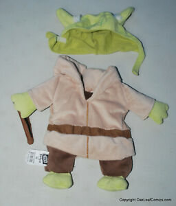 Star Wars Yoda Pet Costume Size X Small for Small Dogs Cats Halloween USED!