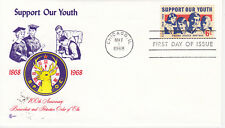 POSTAL HISTORY - FIRST DAY COVER FDC 1968 SUPPORT OUR YOUTH COVER CRAFT CACHET