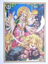"DURGA MAHISHASUR Poster Hindu God Devi unique lovely 16""11"""