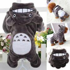 Pet Puppy Dog Winter Warm Coat Cute Totoro Funny Costume Wool Plush Hoodies Clot
