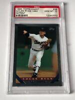 1999 Topps Finest Nolan Ryan 1992 Reprint Card #26 PSA GEM MINT 10 HOF - Texas