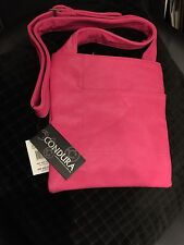 Fuschia PU Condura Handbag / Satchel / Cross Body