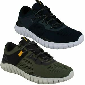 MENS SKECHERS WALKING TRAINERS RYNISS 52815 LACE UP CASUAL LIGHTWEIGHT SHOES