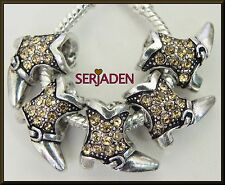 5 Topaz Stone Buckle Dress Cowgirl Boots European Style 14 * 15 & 5 mm Hole R034