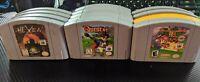 Assorted Nintendo 64 (N64) Games; Cleaned / Tested (Mario, Ogre Battle, etc)