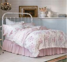 Rachel Ashwell Simply Shabby Chic Ruffled Pink Bedskirt KING Vintage Dust Ruffle