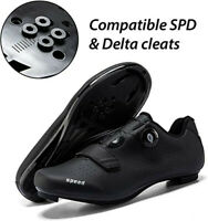 SPD SPD-SL Cleat Road Cycling Shoes Men Look Delta Peloton Spinning Bike Shoes