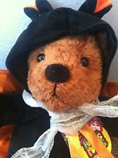 "Gund Boo Halloween Bear 9"" W/Black Wings Mint W/Mint Tag"