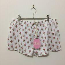 BNWT - PETER ALEXANDER size M cute pot-plant printed pyjama shorts