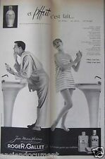 PUBLICITÉ 1959 ROGER & GALLET JEAN MARIE FARINA ET PFFUT C'EST FAIT -ADVERTISING