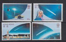 HONG KONG MNH STAMP SET 1986 HALLEY'S COMET SG 507-510