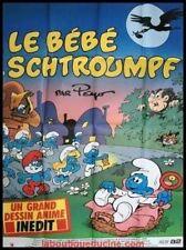 LE BEBE SCHTROUMPF Affiche Cinéma / Movie Poster PEYO