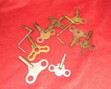 Group of 10 Antique Clock Keys--Signed Some and Cranks Some