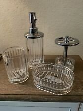 iDesign Alston Clear Bath Accessories Soap dispenser, soap dish etc. your choice