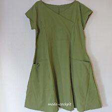 BORIS INDUSTRIES süßes Kleid A-Linie & große Taschen uni grün 48 (5)