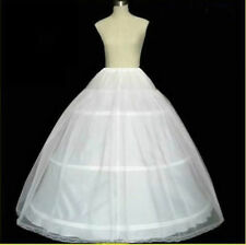 US Bridal Petticoat Hoop Crinoline Underskirt Wedding Prom Dress Ball Gown White