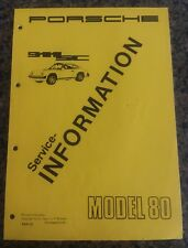 1980 Porsche 911 SC Service Information Manual Owner Dealer Book NOS