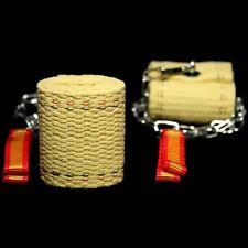 Fyrefli 65mm Channel FIRE POI Set - Kevlar Wick (Juggling/Circus)