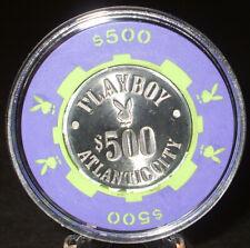 $500. PLAYBOY CASINO CHIP - 1981 - ATLANTIC CITY, New Jersey - Bud Jones