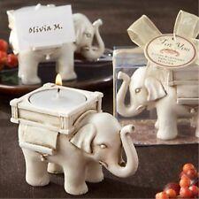 50 sets Lucky Elephant Tea Light Candle Holder Ivory Ceramic Bridal Wedding