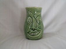 Vintage Trent Walk Pottery Twin Face Celery Pot / Jar 15.5 cm high