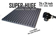 ENORMOUS 1 1/2 inch 24x24 PYRAMID  Soundproofing Studio Foam Acoustic Panel