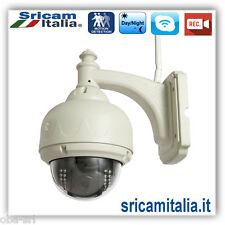 TELECAMERA WIFI IP CAMERA DOME SRICAM WIRELESS CAM INFRAROSSI PER ESTERNO