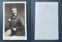 Bacot, François Hugo, fils de Victor Hugo vintage cdv albumen print, François-Vi