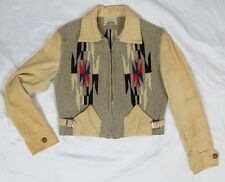 Vintage 40s CHIMAYO Jacket Handwoven Cropped Corduroy Southwest Wool Blanket