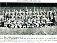 NFL 1968 Philadelphia Eagles Team Picture Black & White 8 X 10 Photo Picture