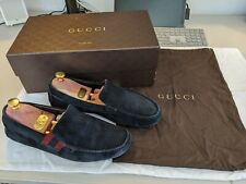 Gucci Mens Navy Blue Loafers/Moccasins/Driving Shoes.UK 7.5,EU 41 w/Box and Bag