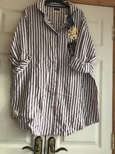 Ladies BNWT Striped Gryffindor Harry Potter Pyjamas Nightshirt Size L 14-16