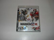PS3 MADDEN 10 PLAYSTATION 3 VIDEO GAME 2010