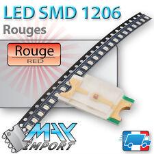 LED SMD / CMS 1206 Rouges ( Red - Rouge ) - Lots multiples, prix dégressifs