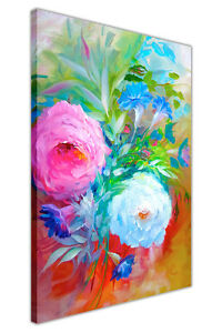 Pink and White Flowers Canvas Wall Art Prints Oil Painting Re-Print Pictures
