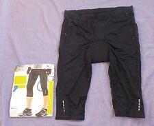 Men's CRIVIT Sports Cycling Shorts Leggings - Black -X Large - NEW