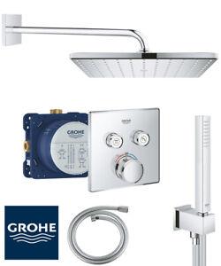 Grohe Unterputz Duscharmatur Set Grohtherm SmartControl Duschsystem Regendusche
