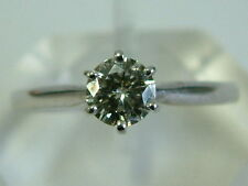 GORGEOUS 18CT WHITE GOLD MOISSANITE DIAMOND SOLITAIRE 0.50 CARAT RING