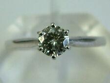 GORGEOUS 18CT WHITE GOLD MOISSANITE DIAMOND SOLITAIRE 0.50 CARAT RING