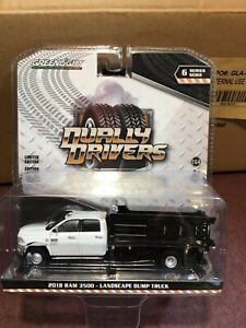 Greenlight Dually Drivers Series 6 2018 Ram 3500 Landscaper dump truck